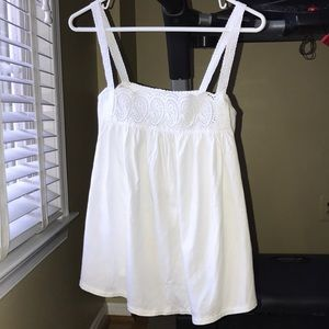 JCREW sleeveless white blouse/shirt